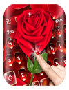 waptrick.one Luxury Red Rose Keyboard