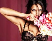 Adriana Lima And Flower
